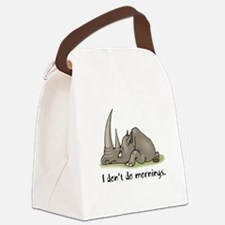 mornings rhino.psd Canvas Lunch Bag