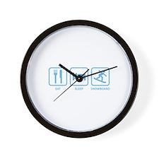 Eat Sleep Snowboard Wall Clock