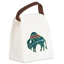 native buffalo.png Canvas Lunch Bag