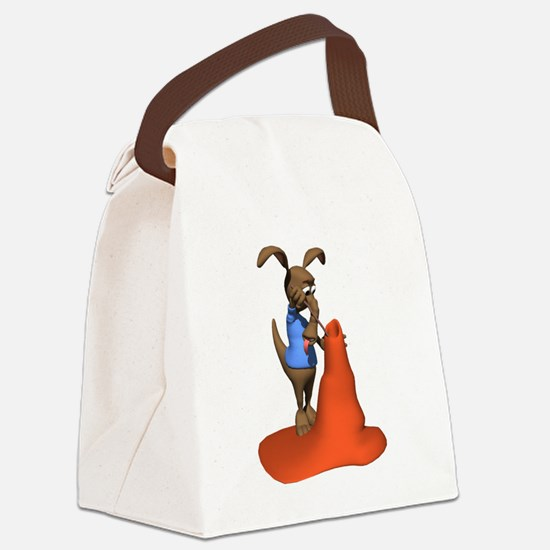 anteater and anttill.png Canvas Lunch Bag