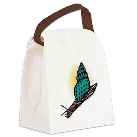 pretty snail.png Canvas Lunch Bag