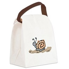 snail in the sand.png Canvas Lunch Bag
