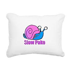snail slow poke.psd Rectangular Canvas Pillow