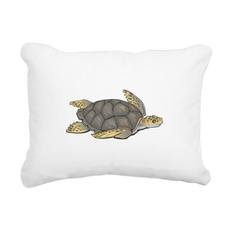 brown sea turtle.png Rectangular Canvas Pillow