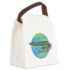 3-eel circle design.png Canvas Lunch Bag