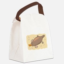 cute lil platypus.png Canvas Lunch Bag