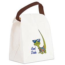 cool lizard.psd Canvas Lunch Bag