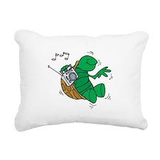 rockin turtle.png Rectangular Canvas Pillow