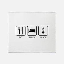 Eat Sleep Space Throw Blanket