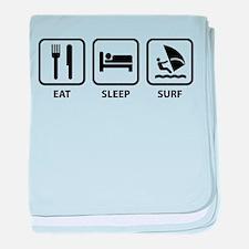 Eat Sleep Surf baby blanket