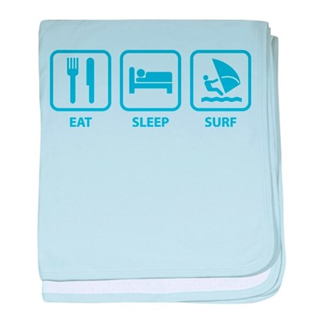 Eat Sleep Surf baby blanket