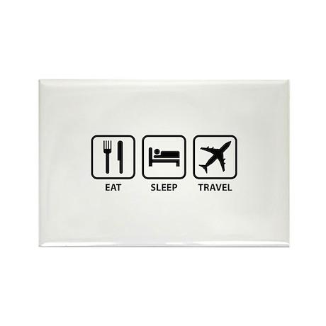Eat Sleep Travel Rectangle Magnet (100 pack)