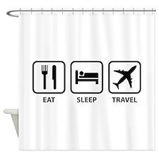 Eat Sleep Travel Shower Curtain