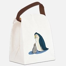 daddy and baby penguin.png Canvas Lunch Bag