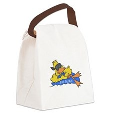 duck on raft.psd Canvas Lunch Bag