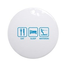 Eat Sleep Waterski Ornament (Round)