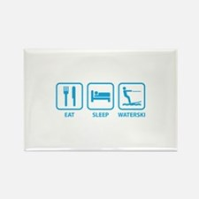 Eat Sleep Waterski Rectangle Magnet