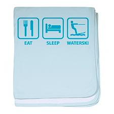 Eat Sleep Waterski baby blanket