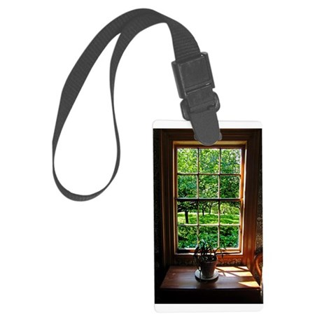 colonial Cottage Window 1.jpg Large Luggage Tag