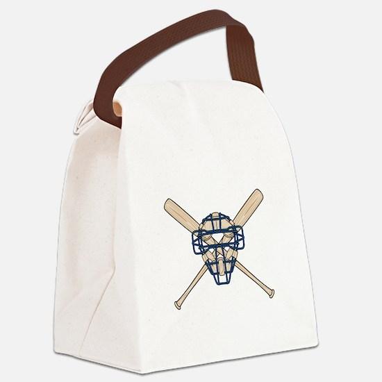 catchers mask copy.jpg Canvas Lunch Bag