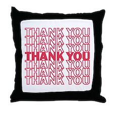 Cute Thank you Throw Pillow