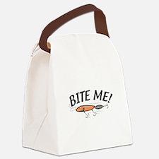 bite me lure copy.jpg Canvas Lunch Bag