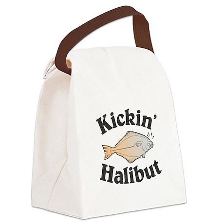 kickin halibut copy.jpg Canvas Lunch Bag