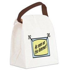 as seen on the internet.png Canvas Lunch Bag