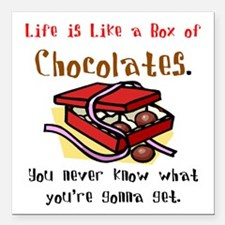 "boxofchoco2.PNG Square Car Magnet 3"" x 3"""
