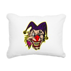 evil jester with pink hair.png Rectangular Canvas