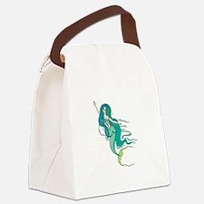 mermaidngreen copy.jpg Canvas Lunch Bag