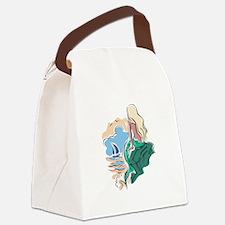 mermaidscene copy.jpg Canvas Lunch Bag