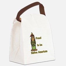 proud to be native american.jpg Canvas Lunch Bag