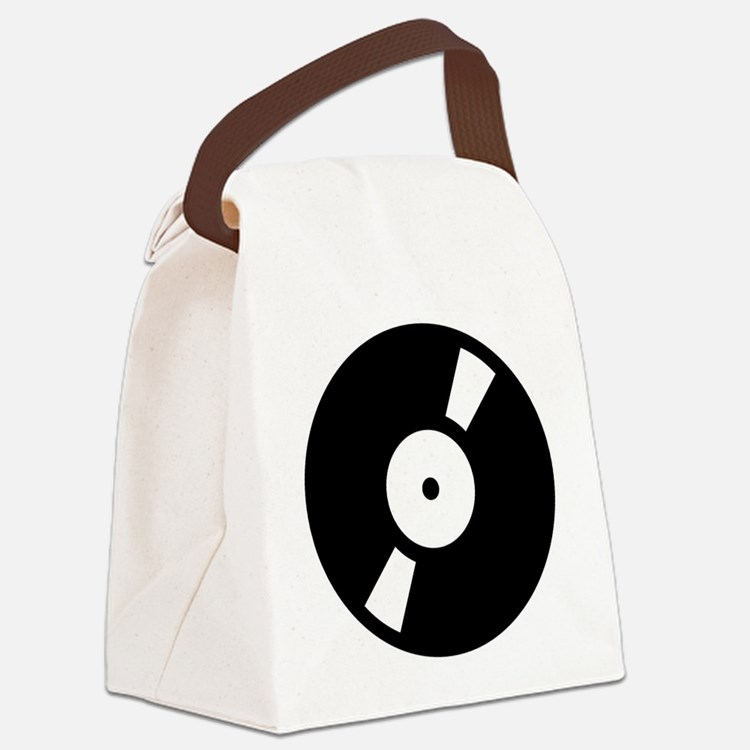 retro vinly record.png Canvas Lunch Bag