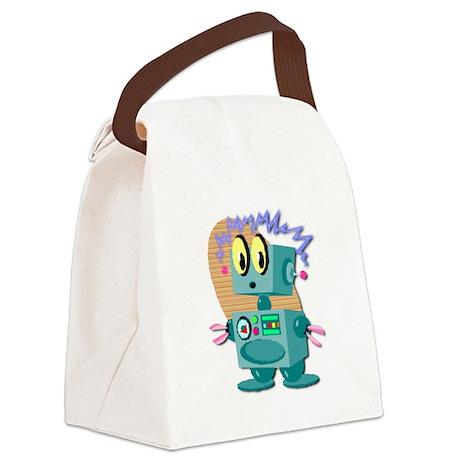 robot.psd Canvas Lunch Bag