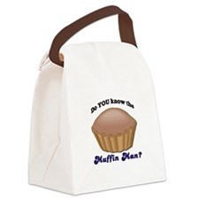 muffinman.psd Canvas Lunch Bag