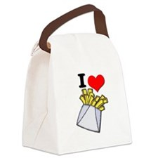 french fries.psd Canvas Lunch Bag