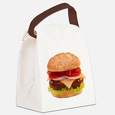 yummy cheeseburger photo Canvas Lunch Bag