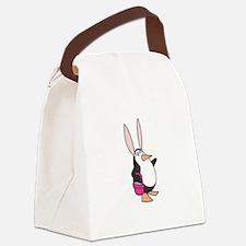 penguin easter bunny copy.jpg Canvas Lunch Bag