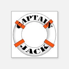 "cap jack.png Square Sticker 3"" x 3"""