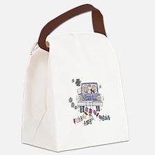 cartoon just married car copy.jpg Canvas Lunch Bag
