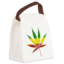 rasta leaf.png Canvas Lunch Bag