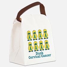 cervical cancer duckkks.png Canvas Lunch Bag
