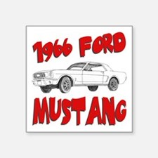 "66 mustang.png Square Sticker 3"" x 3"""