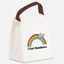 fart rainbows.png Canvas Lunch Bag