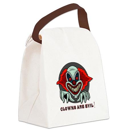scary clown.psd Canvas Lunch Bag