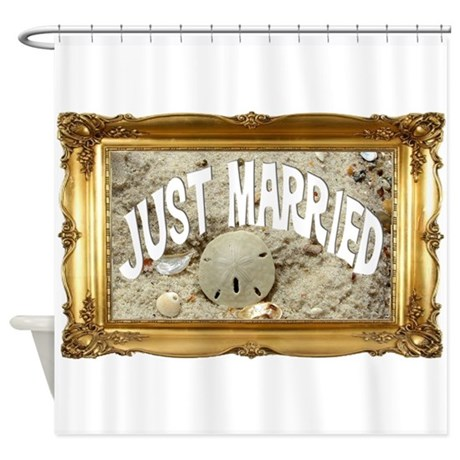 Just Married.png Shower Curtain