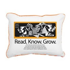 Reading Friends Rectangular Canvas Pillow