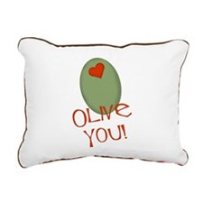 olive you.png Rectangular Canvas Pillow