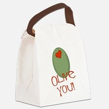 olive you.png Canvas Lunch Bag